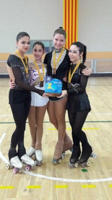 Resultats de les patinadores del CH Juneda al Campionat Territorial de la Seu d'Urgell