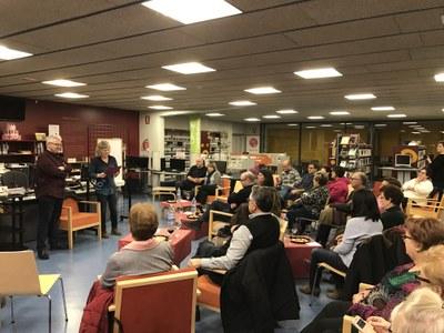 Sessió vitiverbíbora amb Màrius Serra a la Biblioteca de Juneda