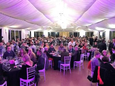Sopar anual a benefici de l'Associació contra el càncer al Palau de Margalef