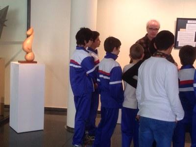 Visites dels centres escolars a l'exposició de l'artista Joan Condal