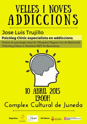Xerrada sobre addiccions aquest divendres al Complex Cultural